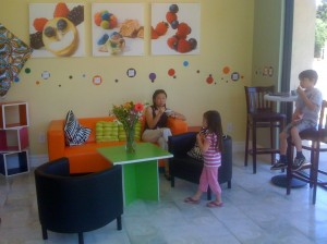 Green Cup Yogurt interior