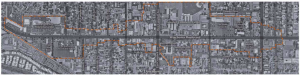 Boundaries of the Winchester Boulevard Master Plan
