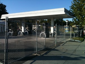 The Shell gas station at the corner of South Winchester and Williams has been closed.